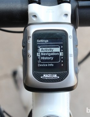 There are three main views. Activity shows live information from your data screens of choice, which you toggle through with the buttons on the right. Navigation shows a breadcrumb trail of where you have been - but without any map. And History provides sums and averages of multiple data fields for each activity
