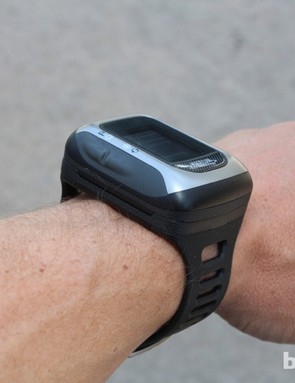 Paired with the mount, the Switch Up, which looks small on a bike, becomes huge on your wrist