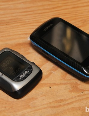 Compared to a Garmin Edge 800, the Magellan Switch Up is teeny. Your call whether this is a good thing
