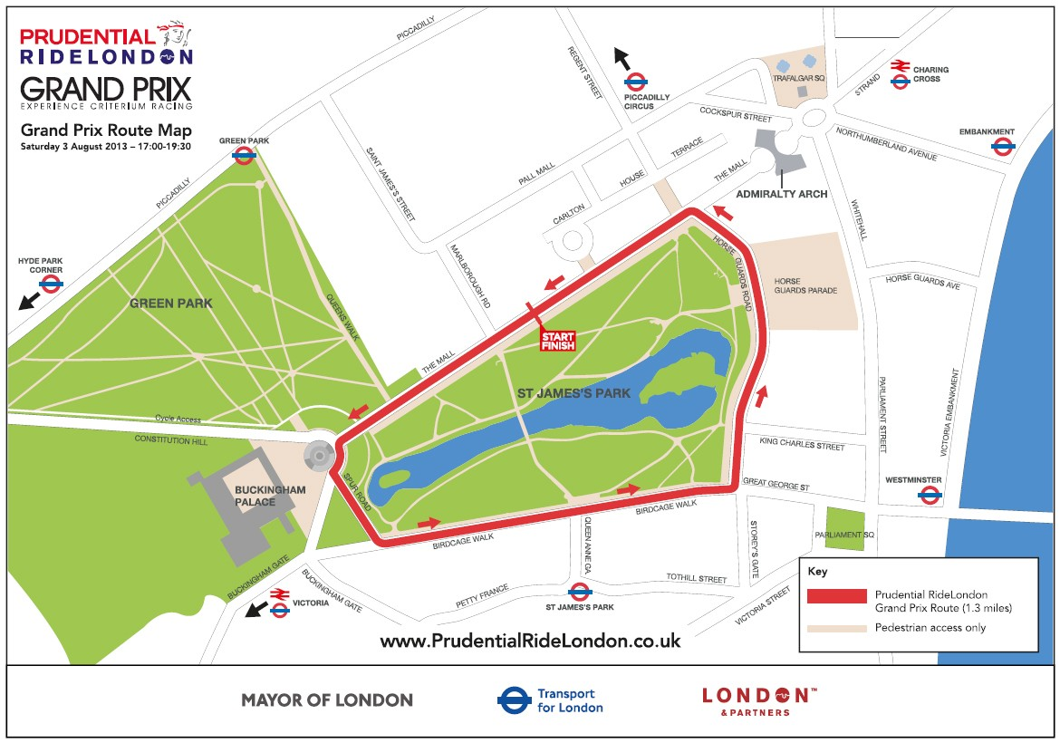 The Prudential RideLondon GP course