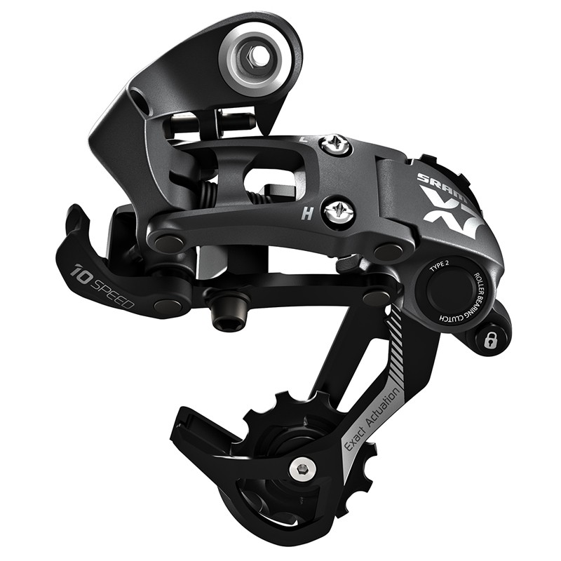 SRAM has just announced a new X7 Type 2 rear derailleur with the same chain-controlling roller clutch inside the lower body pivot to decrease drivetrain noise and improve chain retention