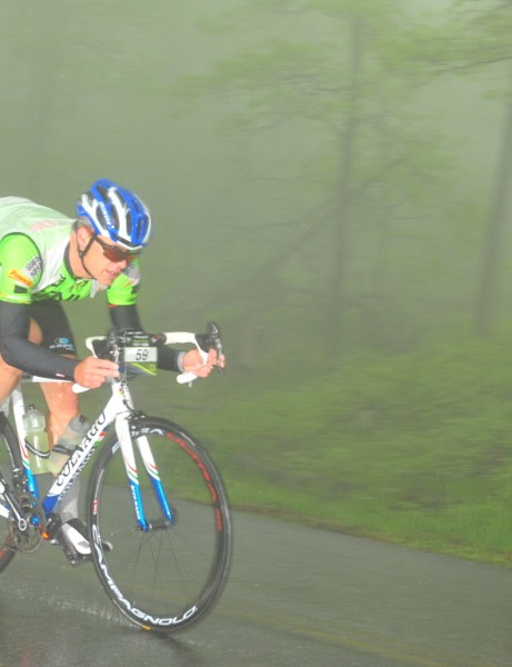 We tested the Bora Ultra 35s during a rainy five-hour gran fondo