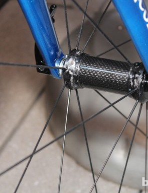 The front wheel weighs a claimed 530g