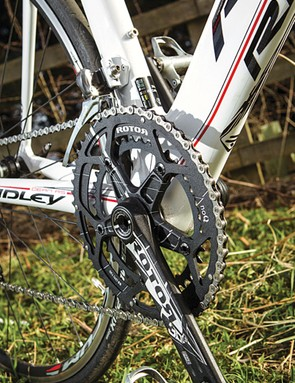 Rotor cranks look good and give a solid foothold so you can make the most of the Dean's strong power delivery