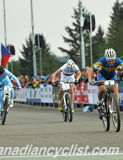 Jenny Rissveds (Swedish National) beats Kathrin Stirnemann (Sabine Spitz Haibike Pro Team)