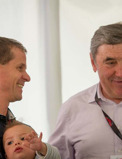Hampsten and Merckx swapped stories in Vicenza