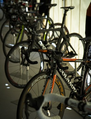 Campagnolo had a few bikes on hand to demo the new Bora Ultra 35 wheels