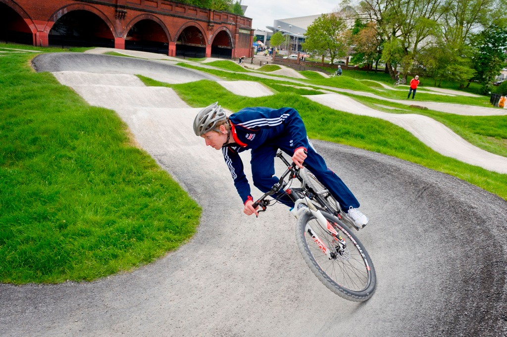 Olympic Academy rider Grant Ferguson on the Clayton Vale trail