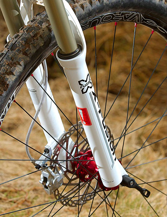 Tthe 100mm fork comes courtesy of X-Fusion...