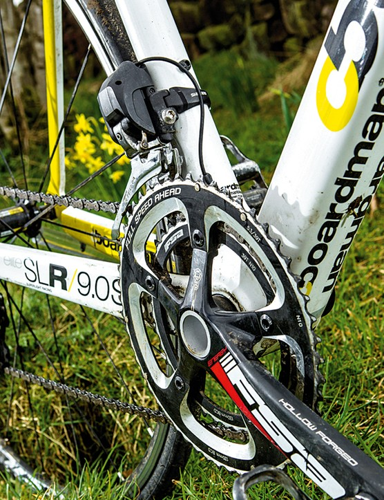 The FSA Energy chainset is less stiff than Ultegra's