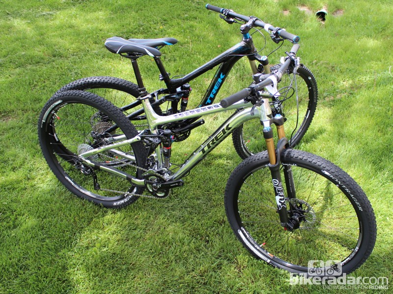 Trek's new Fuel EX 29 (silver) and Remedy 29