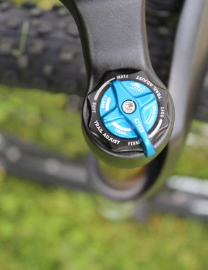 Fox's latest CTD forks use a simple-to-understand three-position dial: one for climbing, one for descending, and the third for everything in between