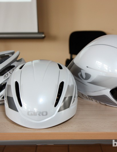 Pick your poison: a traditional helmet (left) for the lightest weight and greatest airflow, a full-blown aero helmet (right) for the lowest drag, or one of the new crop of hybrid helmets (middle) that blend features of both