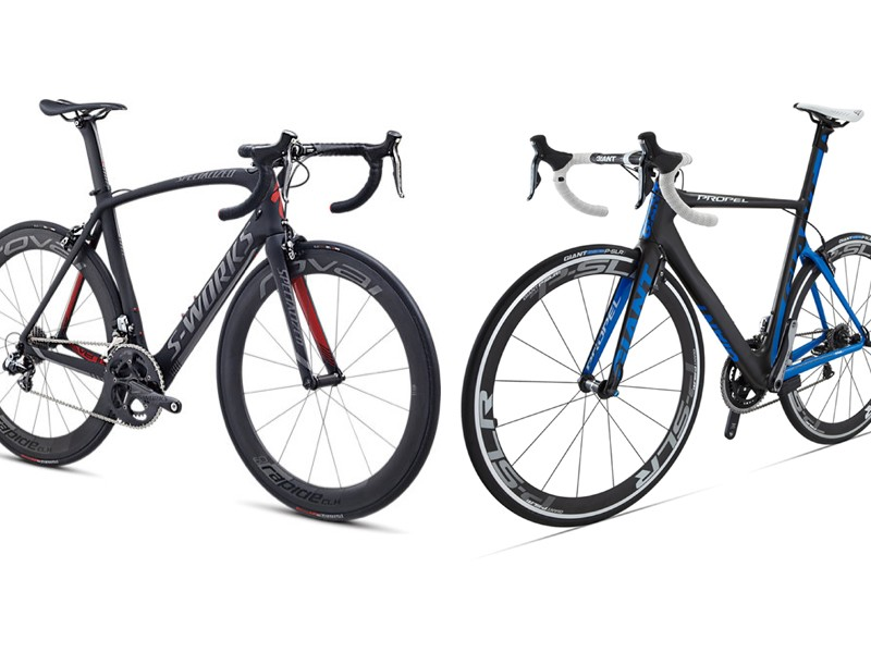 Giant challenged Specialized to test its S-Works Venge against Giant's Propel in the new Specialized wind tunnel