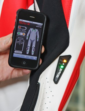 The Alpinestars Tech Air Race suit has an associated app for suit diagnostics, too