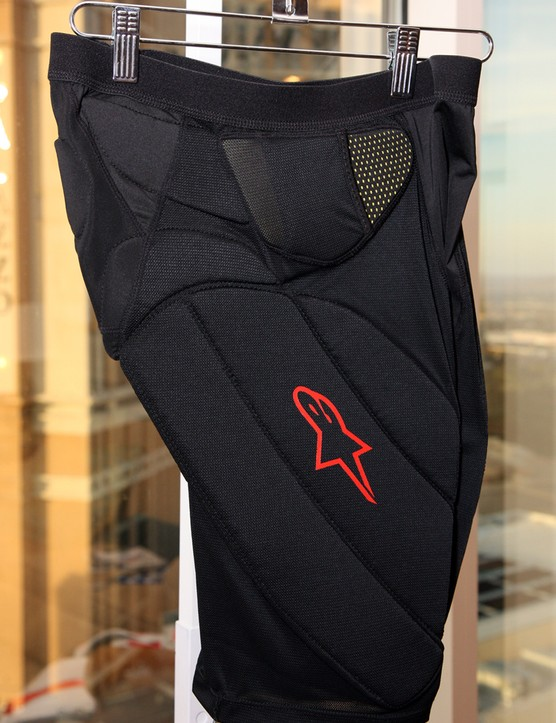 The matching Alpinestars Comp Pro Shorts are designed to provide protection without overly restricting rider movement