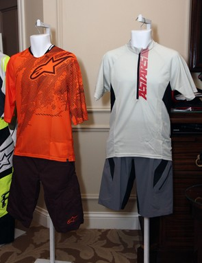 Alpinestars' XC-oriented summer clothing includes the Manual (left) and Hyperlight (right) kits, both with very lightweight fabrics for aerobic activities in hot conditions