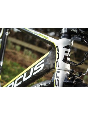 The super-skinny short head tube and slimline fork create one of the sharpest front ends on the circuit