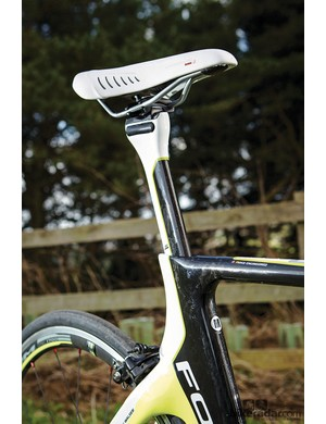 Fizik's Aliante Tri is a great saddle but  the Focus' super-stiff frame cries out for a more forgiving, softer-nosed perch