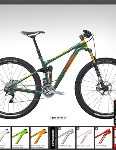 Trek's Project One customization program has finally made its way to the mountain bike. Just three flagship models will be offered for now: the Superfly FS 9.9, Fuel EX 29 9.9, and Superfly 9.9 hardtail