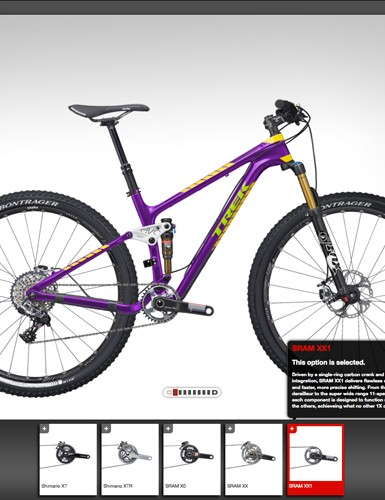 Project One mountain bike customers will have their choice of five different drivetrain options
