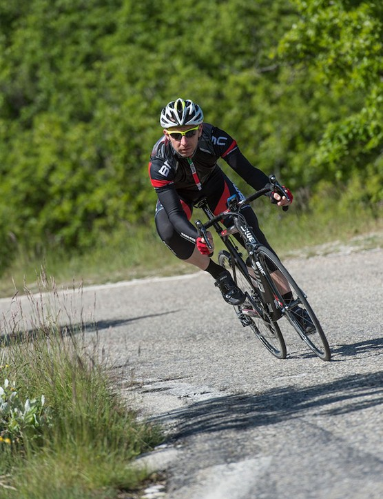 The TeamMachine SLR01 handles sharp corners and rough roads with aplomb