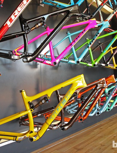 Trek's Project One program gives you a wealth of color and graphic options for select mountain bikes