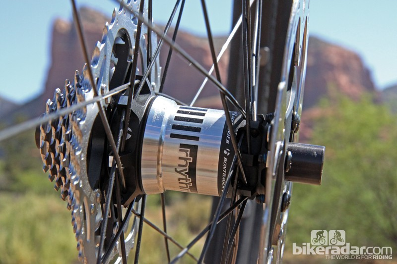 Unlike most rear hubs that use four bearings - two for the axle and two for the freehub body - Bontrager's new Rapid Drive rear hub uses just three