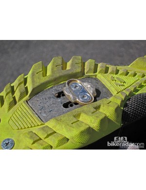 Bontrager calls its Rhythm shoe tread compound 'Tackion'. We'll be curious how the relatively soft compound holds up on Colorado rocks