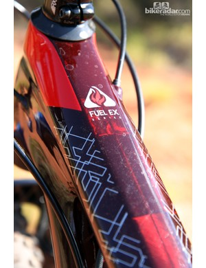 The tinted clearcoat on the new Trek Fuel EX 29 9.8 positively shimmers in sunlight