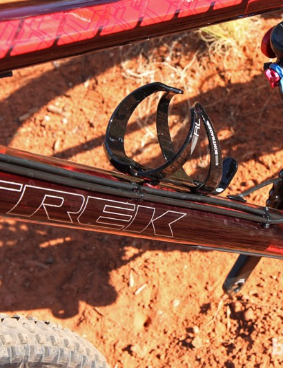 Trek could have fed the internal dropper post line into the frame further up on the down tube but that likely would have created an annoying rattle