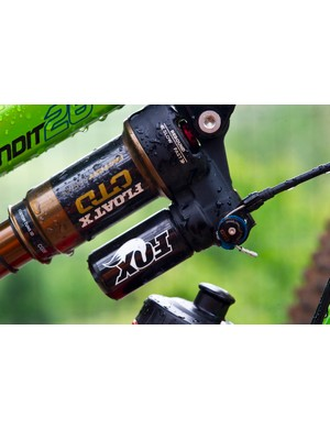 The Float X shock configured for use with the remote