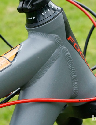 From the front, the head tube looks quite slim, but a profile view reveals its more generous stature