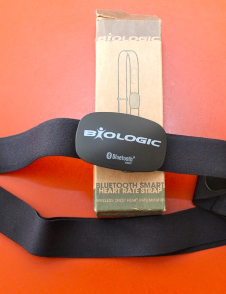 The new BioLogic Bluetooth Smart heart rate strap works with newer iPhones and Androids but quickly burns through batteries