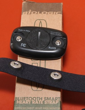 The BioLogic Bluetooth heart rate strap uses CR2030 batteries. We would only get seven hours from them