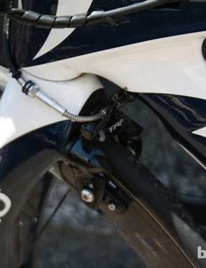 The whole Movistar team ran TRP front brake units…