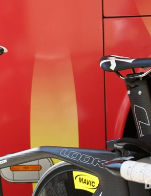 There is plenty to drop into an aero position on Coppel's TT bike