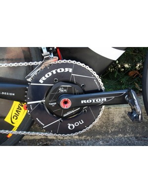 Aero Rotor NoQ rings provide extra rigidity when hammering the pedals – and that one's got 55 teeth