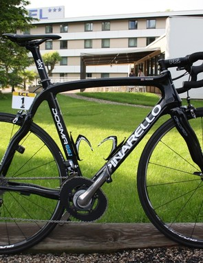 Froome's Dogma 65.1 Think 2 frame set up for the mountains