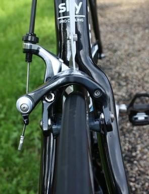 New brake blocks in the Shimano Dura-Ace 2014 callipers