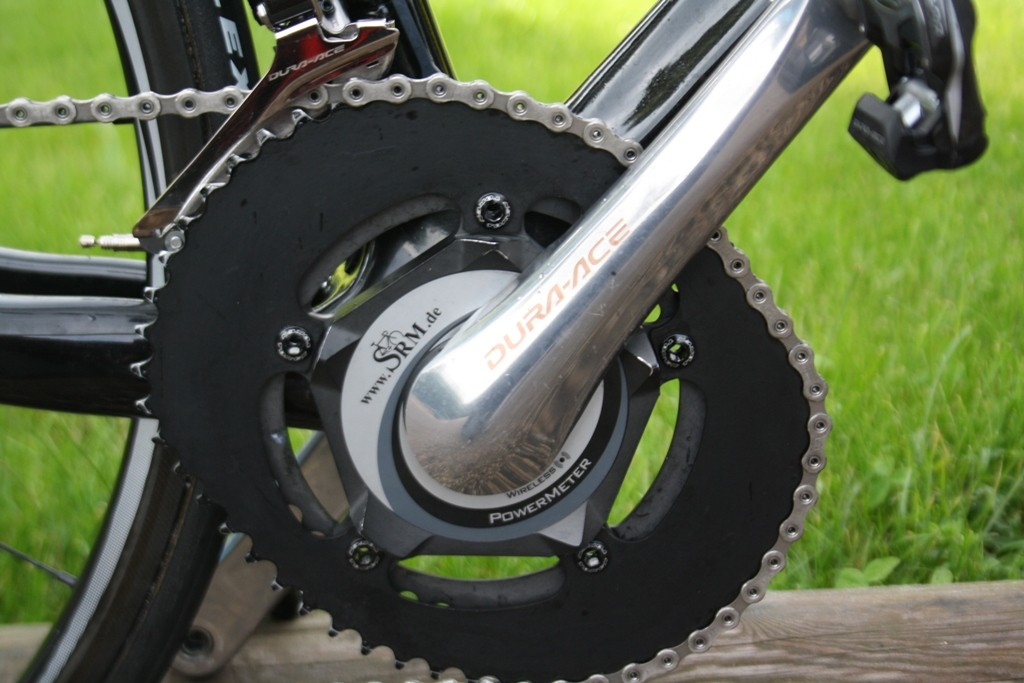 The bike's only deviation from Sky team issue uniformity are the privately-sourced Osymetric chainrings – 42-54, the mechanic told us