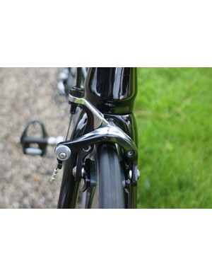 Clean leading edge at the front of the bike