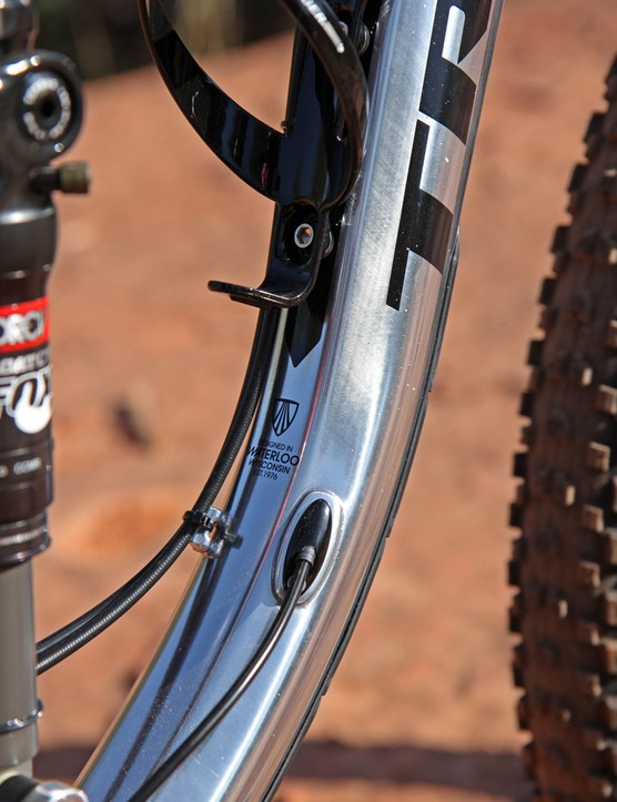 Cable routing is a mix of internal and external