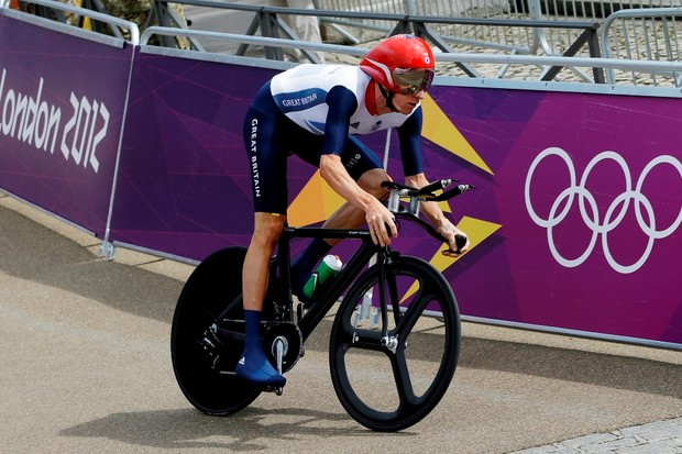 Wiggins has moved away from the Osymetric rings he used during last year's Olympics
