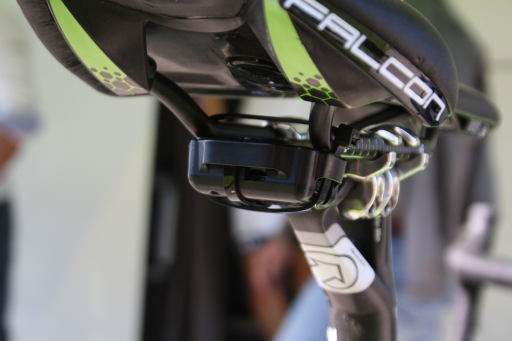 Euro Media is attaching sensors to riders bikes for telemetry broadcast experiment