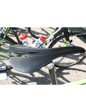 This full carbon saddle sat aboard Warren Barguil's (Argos-Shimano) Felt for the 139km stage. It's a custom moulded prototype from Shimano subsidiary Pro.