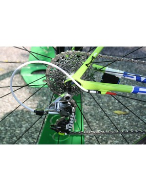 Cannondale, like teams throughout the peloton opted for large cassettes with a big spread of gears