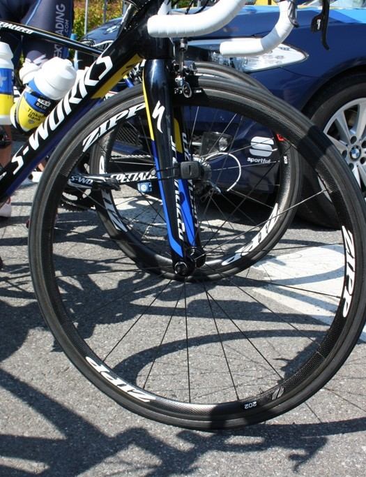 Zipp 202 tubulars offered lightness to the Saxo-Tinkoff Bank team and its leader, Alberto Contador