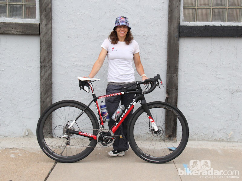 This was Rusch's second year racing the Dirty Kanza 200; her weapon of choice was a Specialzied S-Works CruX with big tires