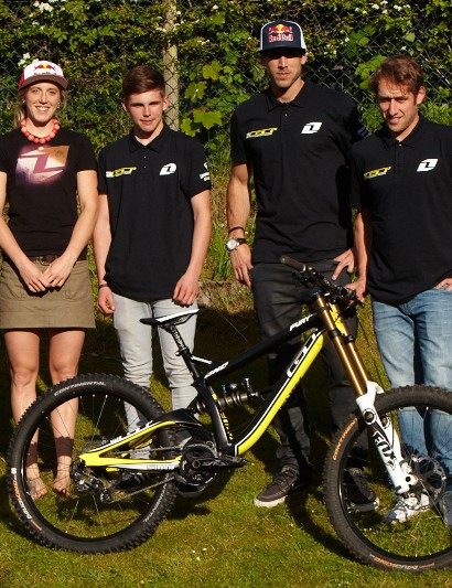 GT team and the new Fury DH bike